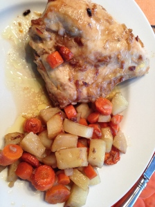 Onion Roasted Chicken and Vegetables