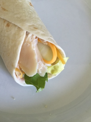 Turkey Wrap with Cranberry Mayonnaise